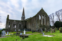 The ruins off Saint Mary's Church is located in the center of New Ross, County Wexford, Ireland