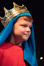 boy child in a Christmas play