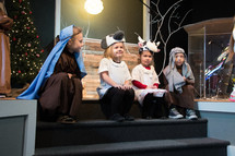 children in a Christmas play