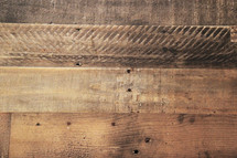 Reclaimed timber background - floor