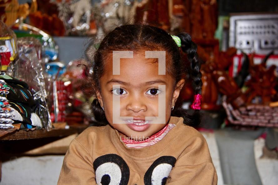 a child child with braids