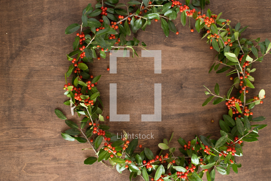 a holly wreath