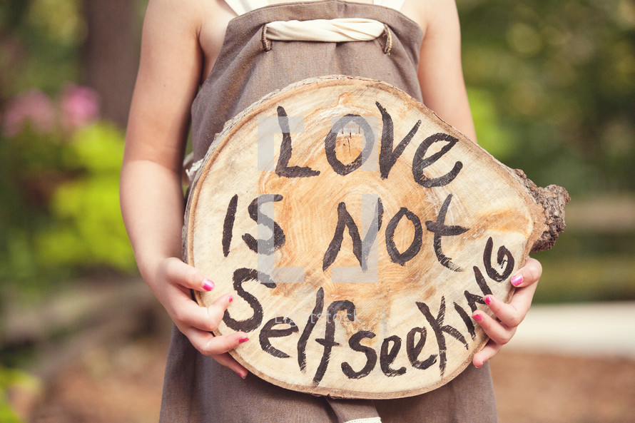 love is not self seeking
