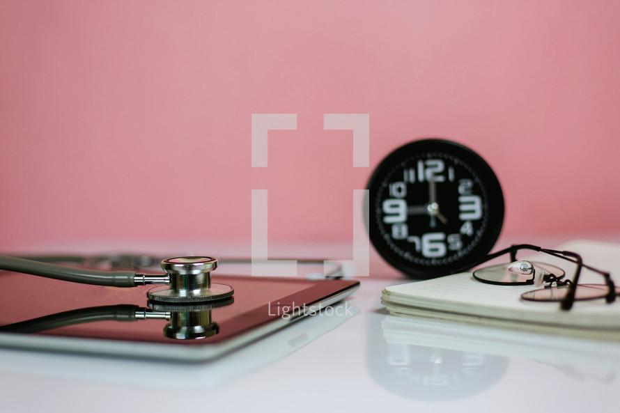 stethoscope on an iPad