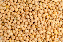 Top view of dried chickpeas for background or texture