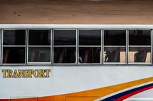 tour bus windows