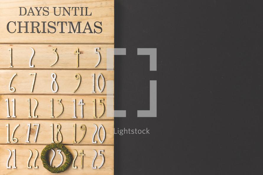 December 23rd on a Christmas Advent calendar