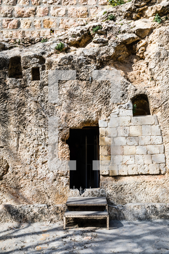 entrance to an ancient home in Jerusalem
