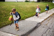 children walking to school