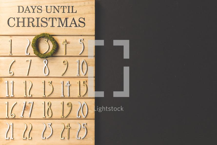 December 3rd on a Christmas Advent calendar