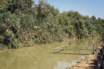 The Jordan River in Jordan, possible location of Jesus' baptism