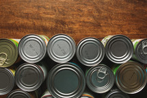 tops of cans