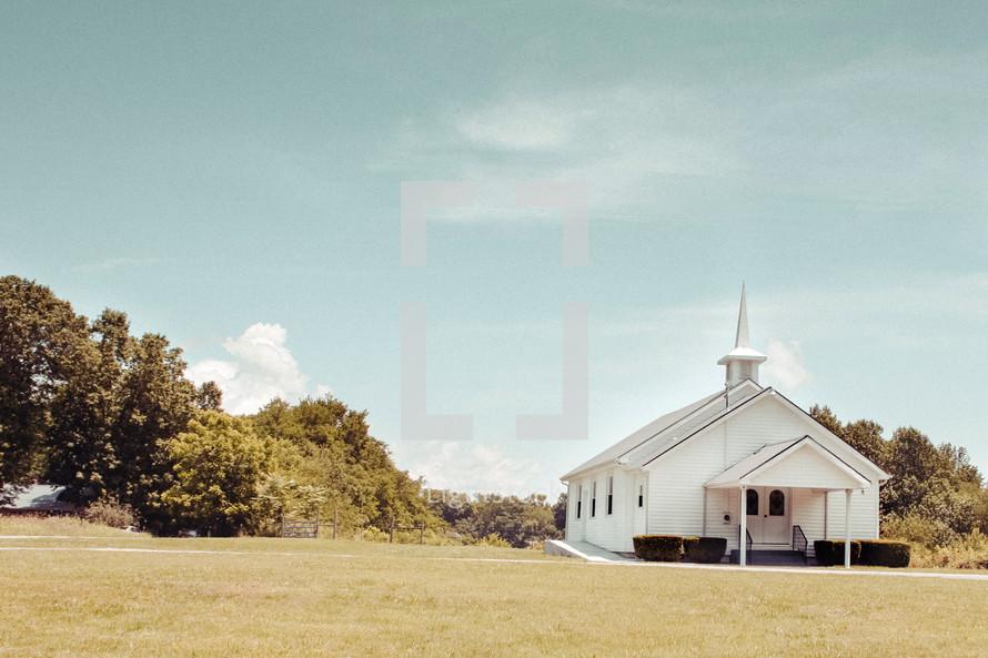 a rural white church