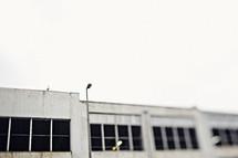 windows on a concrete building