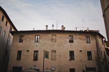 rooftop of a village inn