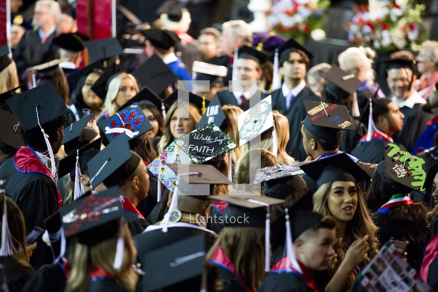 crowd of graduates