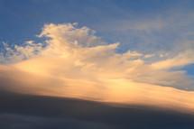 Orange blue sky