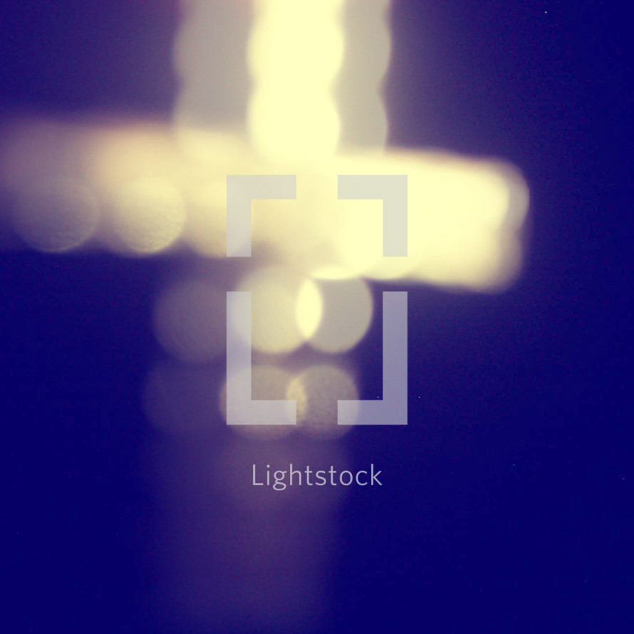 bokeh cross in lights