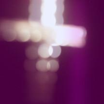 bokeh cross in lights