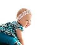 portrait of a smiling infant girl
