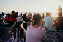 worship service on the beach