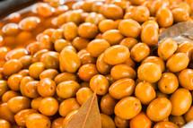 delicious mojo picon  olives in market.