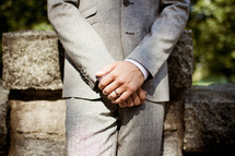groom's hands