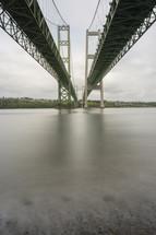 bridges stretches across a river