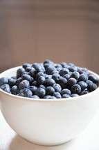 fresh picked blueberries in a bowl