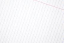 blank sheet of notebook paper.
