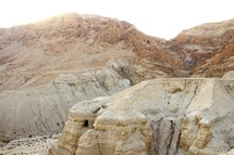 One of the caves in Qumran where the Dead Sea Scrolls were found