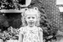 toddler girl with pigtails
