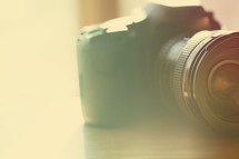camera and lens with vintage filter.