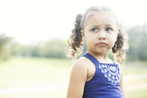 toddler girl with pig-tails