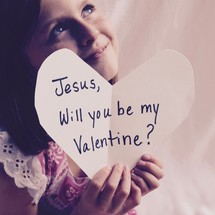 Jesus, will you be my Valentine?