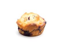 single blueberry muffin