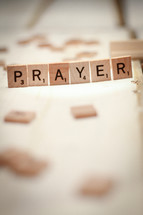 word prayer from scrabble pieces