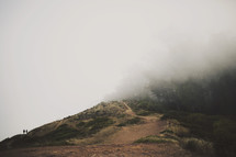 fog over a mountain top