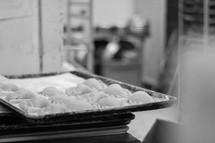 dough in a bakery