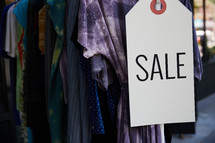 clothing sale sign