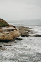 concrete sea wall