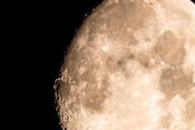 full moon in detail