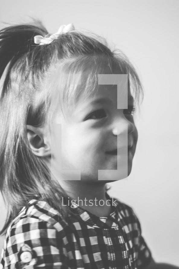 face of a toddler girl