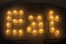 Eat sign in lights