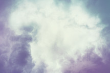 Colorful cloud background.