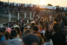 audience at a rodeo