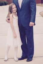 father and daughter ready for Daddy Daughter dance