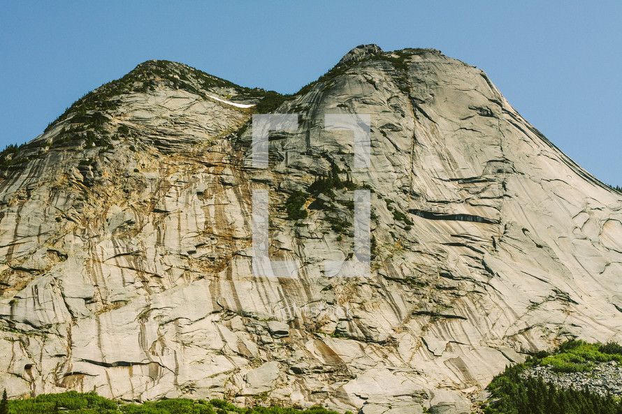 jagged mountain peak and cliff