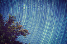 motion - swirling stars in the sky