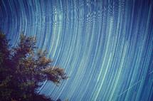 motion - swirling stars in the sky